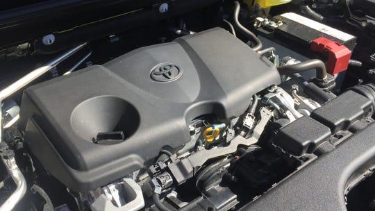 the 2019 Toyota RAV4's 203-hp 2.5L 4-cyl. engine.