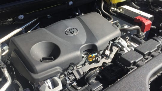 the 2019 Toyota RAV4's 203-hp 2.5L 4-cyl. engine.