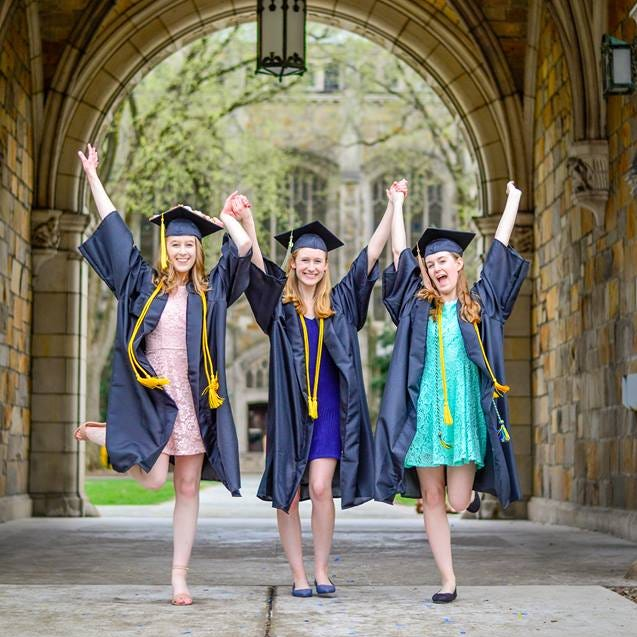 Triplets to graduate together from UM, then pursue own paths