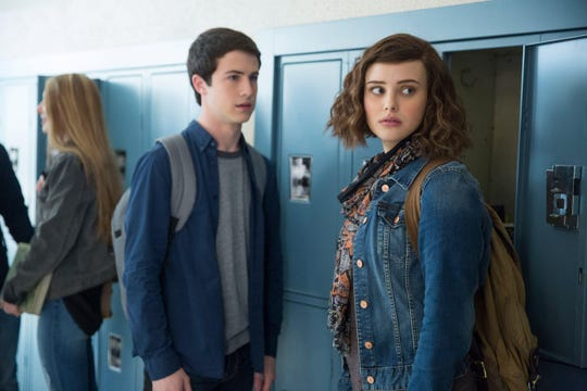 "Dylan Minnette and Katherine Langford in ""13 Reasons Why."""