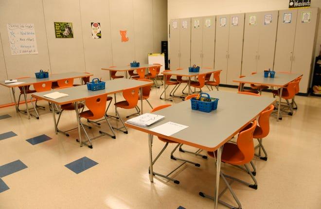 Generic class room photo at Madison Elementary School.