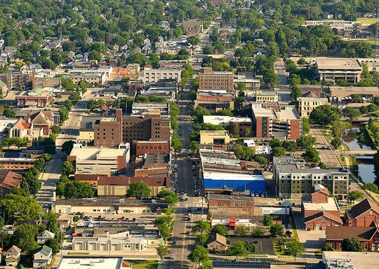 Aerial view of Fond du Lac