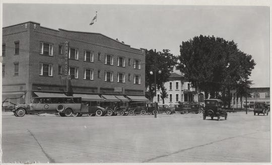 The Armstrong Hotel, pictured at the corner of South College Avenue and Olive Street in 1924, a year after it opened.