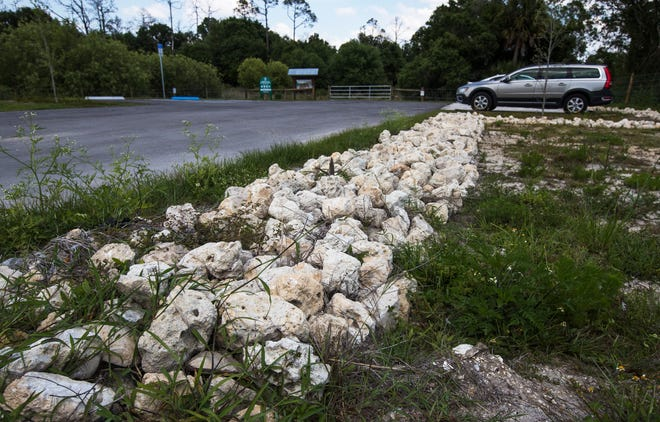 A view of the new parking area at Yellow Fever Creek Preserve in Cape Coral photographed Monday, April 29, 2019.