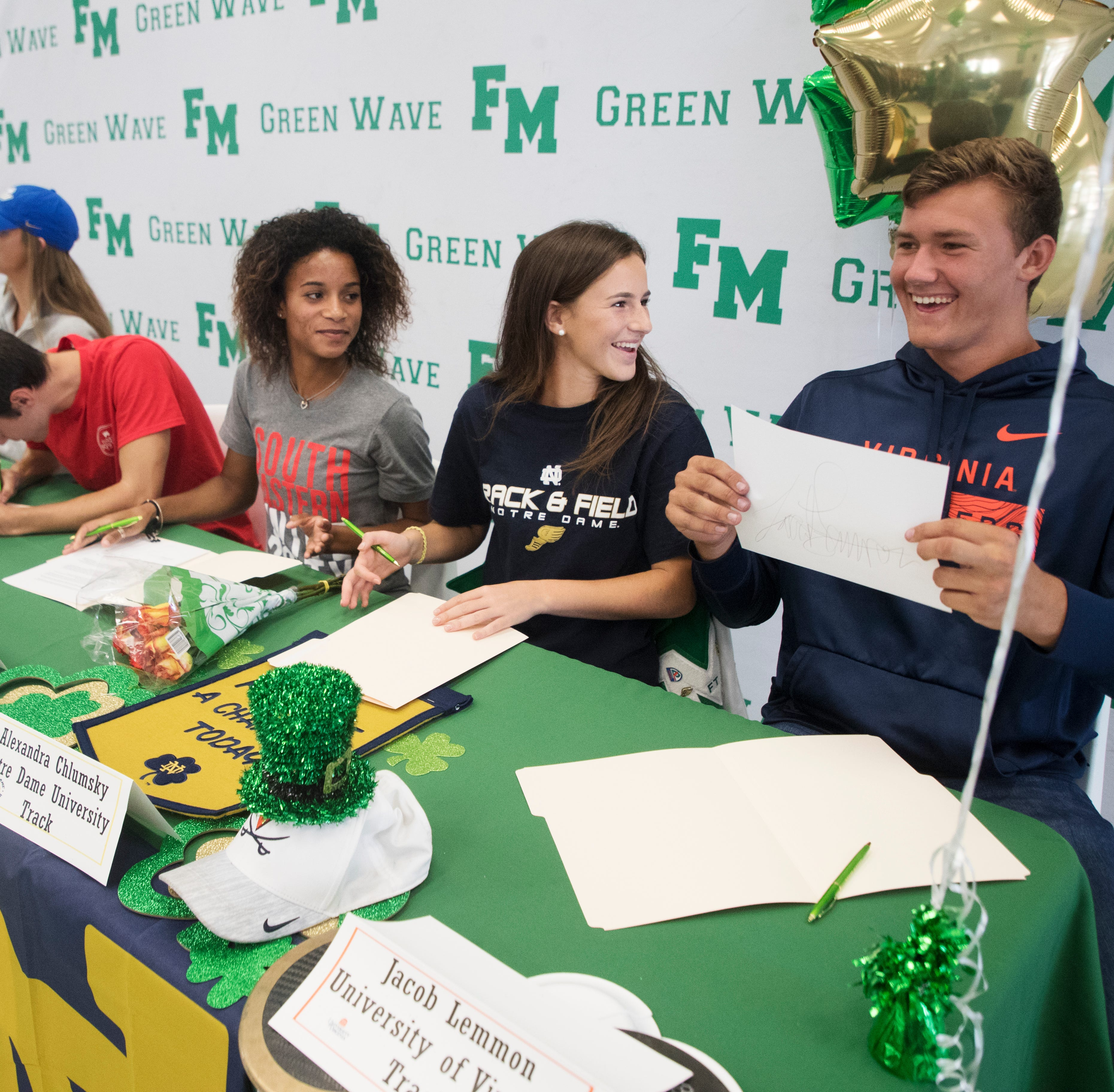 Fort Myers High athletes sign National Letters of Intent