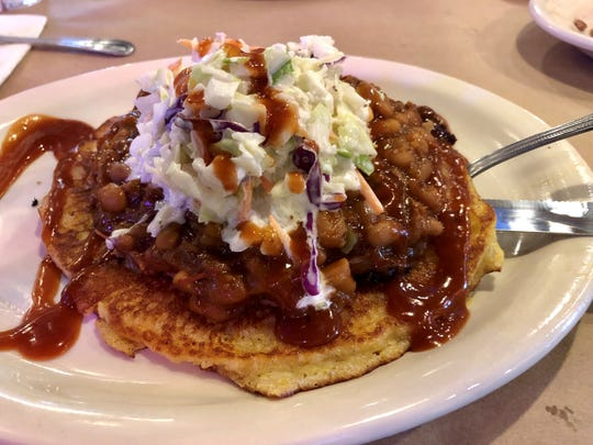 "The ""Redneck Taco"" from Texas Tony's Rib & Brewhouse in Cape Coral."