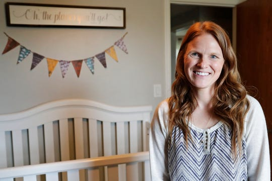 Foster parent Katie Szerkins stands in a child's bedroom in her home on Tuesday, April 30, 2019 in Howard, Wis.