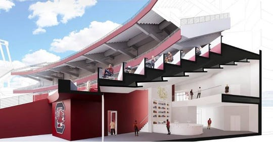 A view of the proposed 2001 Club at Williams-Brice Stadium.