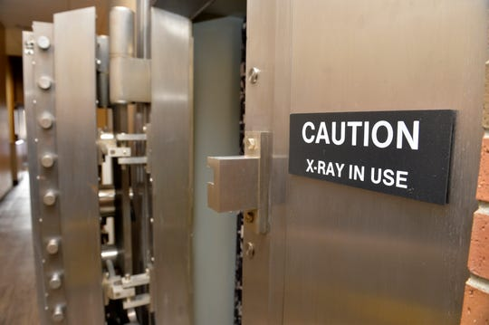 The X-ray room at Alluvion Health's downtown clinic on 1st Avenue North is in vault. The building once was a bank.