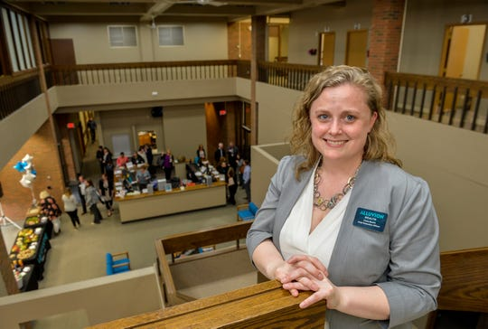 Trista Besich is the CEO of Alluvian Health, which conducted a ribbon cutting its new main clinic Monday. The clinic, 601 1st Ave. N., will provide increased services an integrated primary care model.