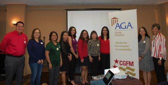 The AGA Guam Chapter celebrated and honored its Certified Government Financial Managers (CGFM) during their March 27, 2019 General Membership Meeting. The chapter is celebrating 25 years of CGFM throughout 2019. Accordingly, Guam CGFMs were recognized for their continuous contribution in advancing government accountability. From LEFT to RIGHT: Jojo Guevara; Dr. Doreen Crisostomo; Gloria Travis; Josephine Villanueva; Yukari Hechanova; Llewelyn Terlaje; Zeny Asuncion-Nace; Maripaz Perez; Frances Daniele; and Doris Flores Brooks.
