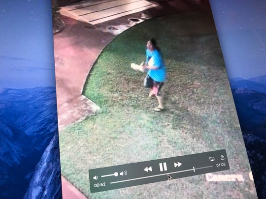 A screenshot of a viral video showing an attempted break-in at Santa Bernadita Catholic Church on April 29, 2019.