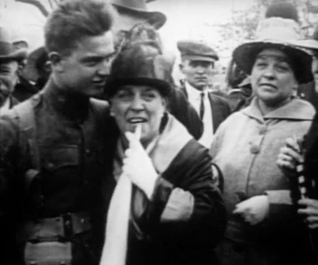 Rare video of World War I welcome home celebration