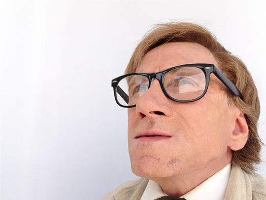 Actor Bill Oberst Jr. searched for the right look with his makeup to become Ray Bradbury.