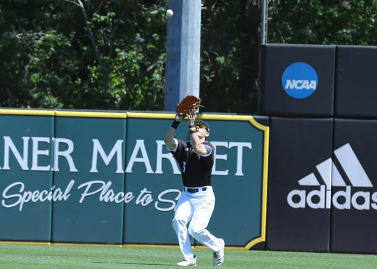 Southern Miss freshman Hunter LeBlanc drove in four runs as the Golden Eagles Southern Miss took advantage of five Middle Tennessee State errors Sunday.