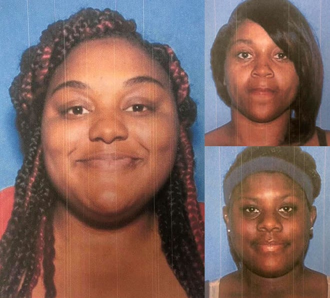 Clockwise from left: Traneshia McNair, Jasmine Maxwell and Tereshia McNair