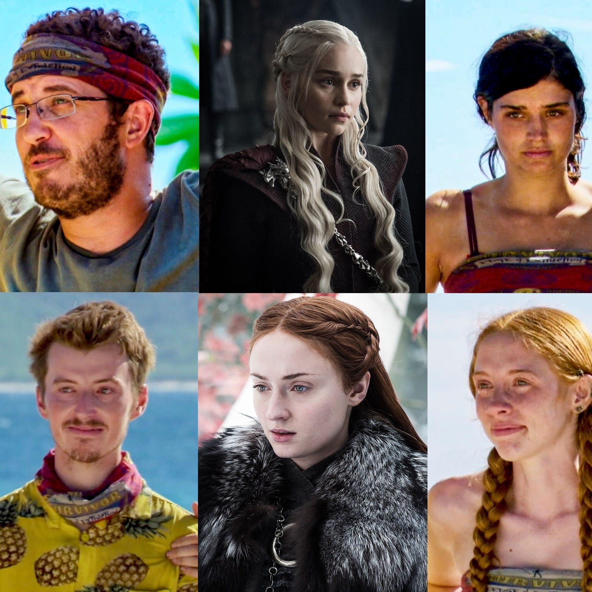 'Game of Thrones' meets 'Survivor' in eerily parallel worlds