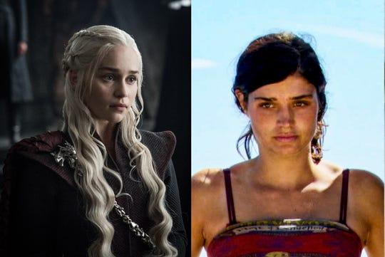 Daenerys Targaryen, left, and Lauren O'Connell
