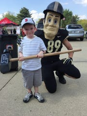Purdue Pete will made an appearance at a recent Tourism Tailgate, at the Visit Lafayette-West Lafayette visitors center, 301 Frontage Road, in Lafayette. The next Tourism Tailgate is May 8.