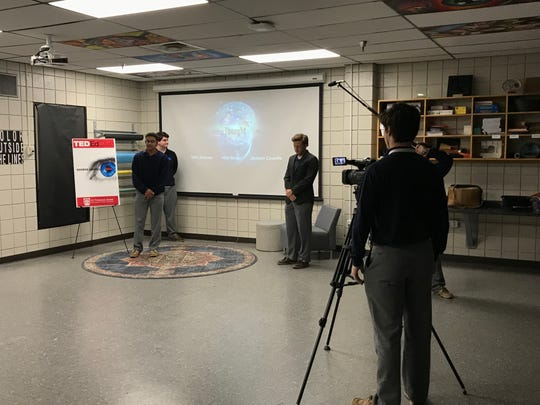 St. Thomas More Catholic High School seniors participate in TED Ed Student Talks and have formed the first STM TED Ed Club.