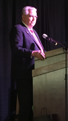 Fairfield County Board of Commission President Dave Levacy speaks at Tuesday's State of the County address at the Wigwam Event Center in Violet Township.
