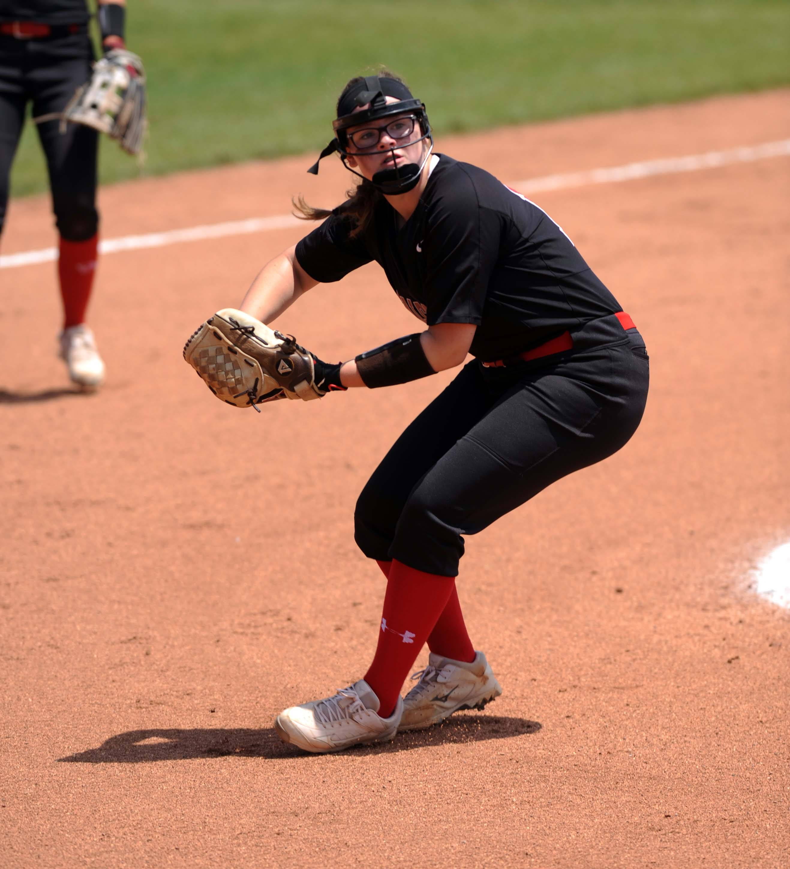 Fairfield Union pitcher Laikyn Teasley fields the ball during the 2018 Division II state semifinal in Akron. They lost 1-0 to top-ranked LeGrange Keystone. The Falcons entered last year's tournament with a sub-.500 record, but were able to have a magical tournament run.