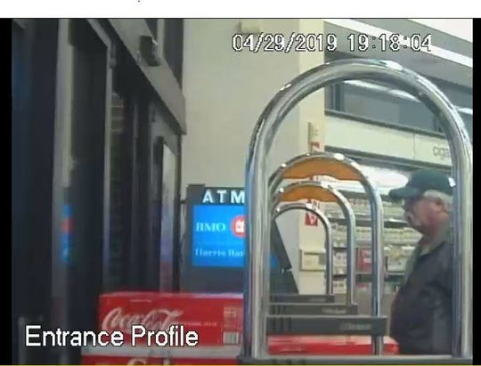 Manitowoc police are seeking the public's help identifying the man in this image, who they say is a person of interest in a hit-and-run crash that occurred at Walgreens April 29.
