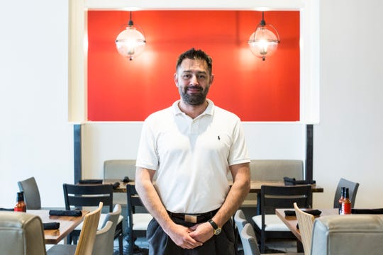David De La Paz, general manager, stands inside of the soon to be open Swanky's Taco Shop inside of the Chisca building at 272 S. Main Street, April 30, 2019.