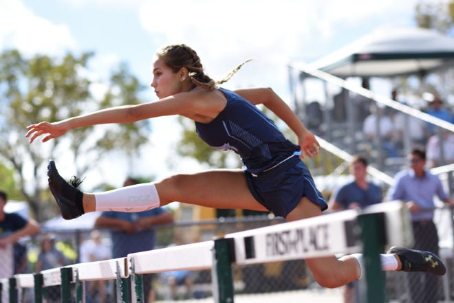 Marco Island Academy junior Suzie Linn qualified for this weekend's Class 1A state track meet, a year after suffering a broken ankle at the Class 2A regional race while at Lely. Linn returned to MIA this year, where she finished sixth in the 100-meter hurdles as a freshman.