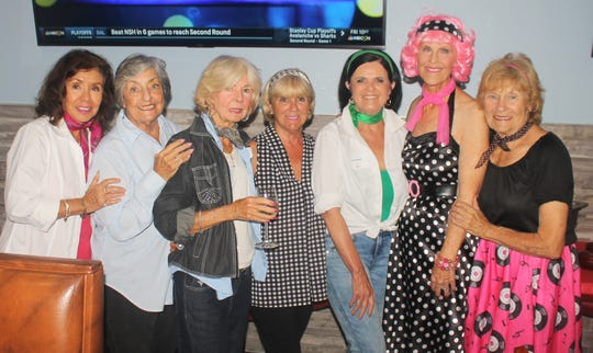 Marge Superits, Jean Davis, Susanne Grossman,  Betsy Zinner, Laverne Leahy, Susie Walsh and MaryAnn Cassidy are ready to rock.