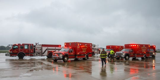 The Statewide Interoperable Mobile Communications (SIMCOM) Exercise will take place at several Waukesha County locations May 1-3. This photo was taken during a 2015 full-scale disaster exercise at Waukesha County Airport-Crites Field.