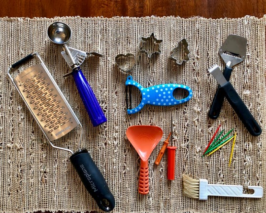 Here are just a few of the tools you might already have in your kitchen that are useful for creating garnishes.