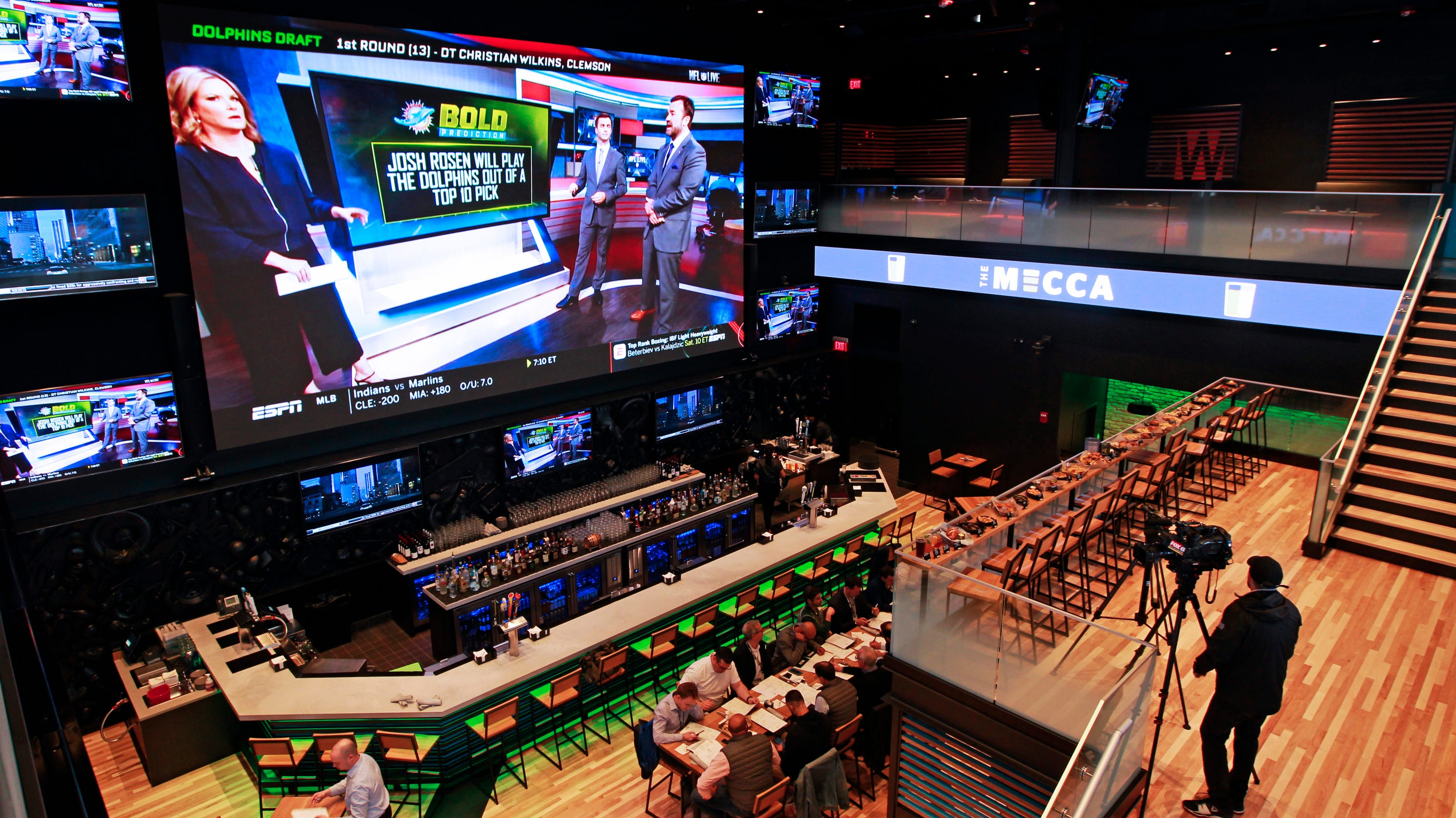 The Mecca Sports Bar And Grill The Final Bar Across From Fiserv Forum Has A 38 Foot Screen That Spans 2 Floors The 5th News