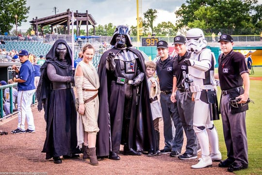 Saturday is Star Wars Night for the Montgomery Biscuits.