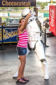 Take a selfie with your favorite Star Wars characters Saturday.