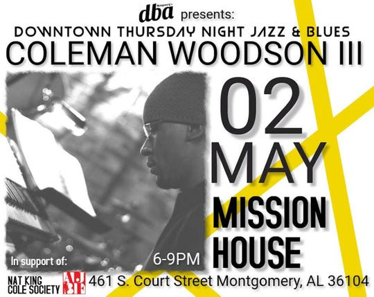 Coleman Woodson III performs Thursday at Mission House in Montgomery as part of the new Downtown Thursday Night Jazz & Blues series.