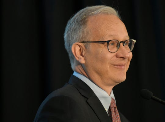 Mayor David Briley delivers the 56th Annual State of Metro Address at the Nashville Public Library's Grand Reading Room on Tuesday, April 30, 2019.
