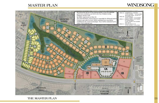 The Windsong proposal would rezone more than 126 acres in Gallatin for both commercial and residential purposes, including a grocery store, single-family homes andtownhouses.