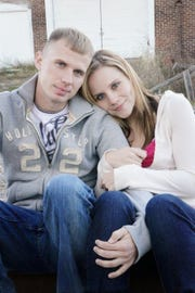 The late Lance Cpl. Andrew Carpenter with widow Crissie before his 2011 death.