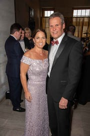 First lady Maria and Gov. Bill Lee attend A Tennessee Waltz at the Tennessee State Capitol.
