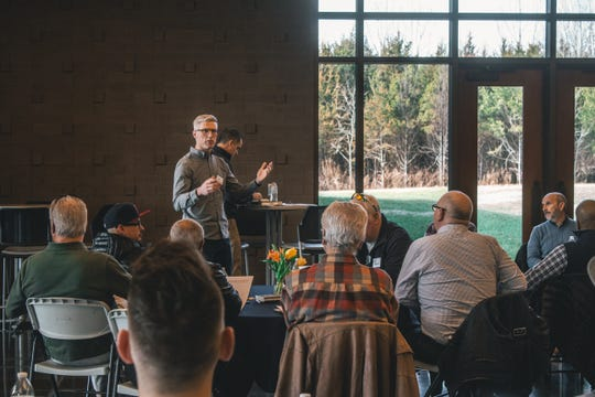 Providence Church Pastor Jacob Armstrong, standing, is among many Wilson County pastors and church leaders that are part of Everyone's Wilson, which has organized a prayer gathering May 1, in Mt. Juliet and plans to partner with area schools as well.