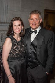 Ashley Howell, executive director of Tennessee State Museum, and Joe Howell attend A Tennessee Waltz at the Tennessee State Capitol.