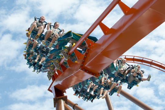 The$22 millionThunderbird, which opened at Holiday World & Splashin' Safari in 2015, is a launched wing coaster that hits 60 mph and includes thrilling loops and twists.
