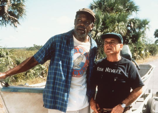 "Danny Glover (left) and Joe Pesci try to reel in the laughs with ""Gone Fishin"", a tale of a fishing trip gone awry filmed in the 1990s in Collier County, Florida."