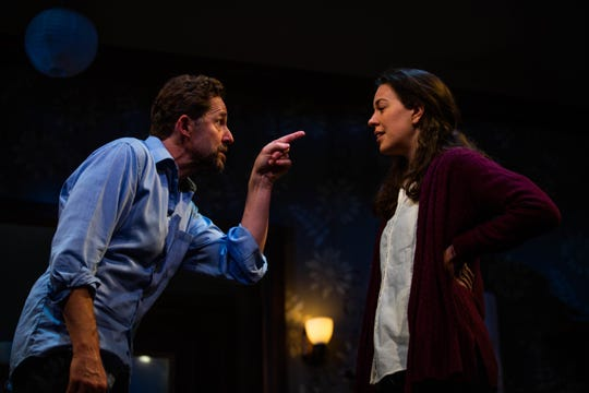 Todd Weeks and Amy Blackman rehearse Skylight at Gulfshore Playhouse in Naples on Tuesday, April 30, 2019.