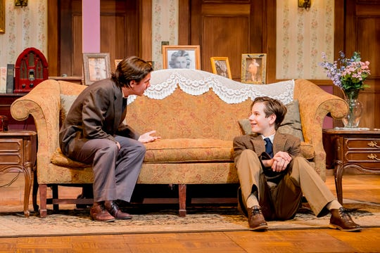 """Jay (Brian Boland) and Arty (Leonard Allen) are at Grandma's for what they hope will be a short, painless visit in the Naples Players' """"Lost in Yonkers."""""""