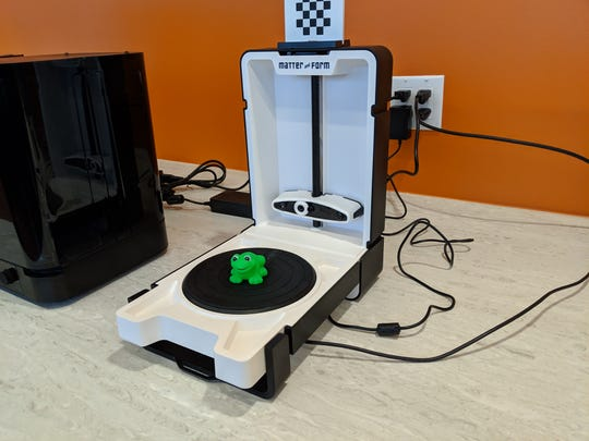 One of the BCC STEM Center's 3D printers was used to make a plastic frog.  The center officially opened on April 30.