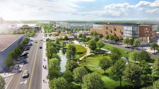 Renderings of future development at Westfield Garden State Plaza