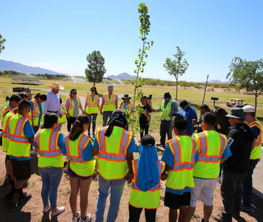 The City of Sunland Park celebrated Earth Day with the planting of a special tree at the Sunland Park Sports Complex by Mayor Javier Perea in loving memory of Sunland Park's Environmental Program Specialist Byron Wade Cross.