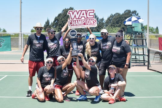 The New Mexico State women's tennis team is off to The Farm in Palo Alto, Calif., to take on the No. 3 national seed Stanford Cardinal.